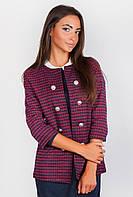 Пиджак женский стильный AG-0004182 Бордово-черный
