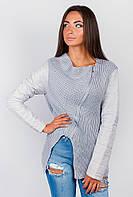 Куртка-свитер  женская осенняя Светло-серый