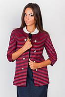 Пиджак женский стильный AG-0004182 Красно-черный