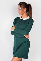 Платье офисное AG-0004183 Темно-зеленый