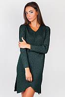 Платье женское теплое  AG-0004186 Темно-зеленый
