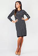 Платье женское свободный силуэт AG-0004185 Черно-белый