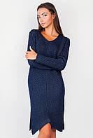 Платье женское теплое  AG-0004186 Темно-синий