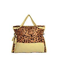 Женская сумка арт.1424 Леопардовый-бежевый