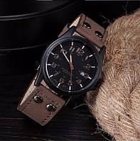"""Мужские наручные часы с датой """"Soki"""" кофейные"""