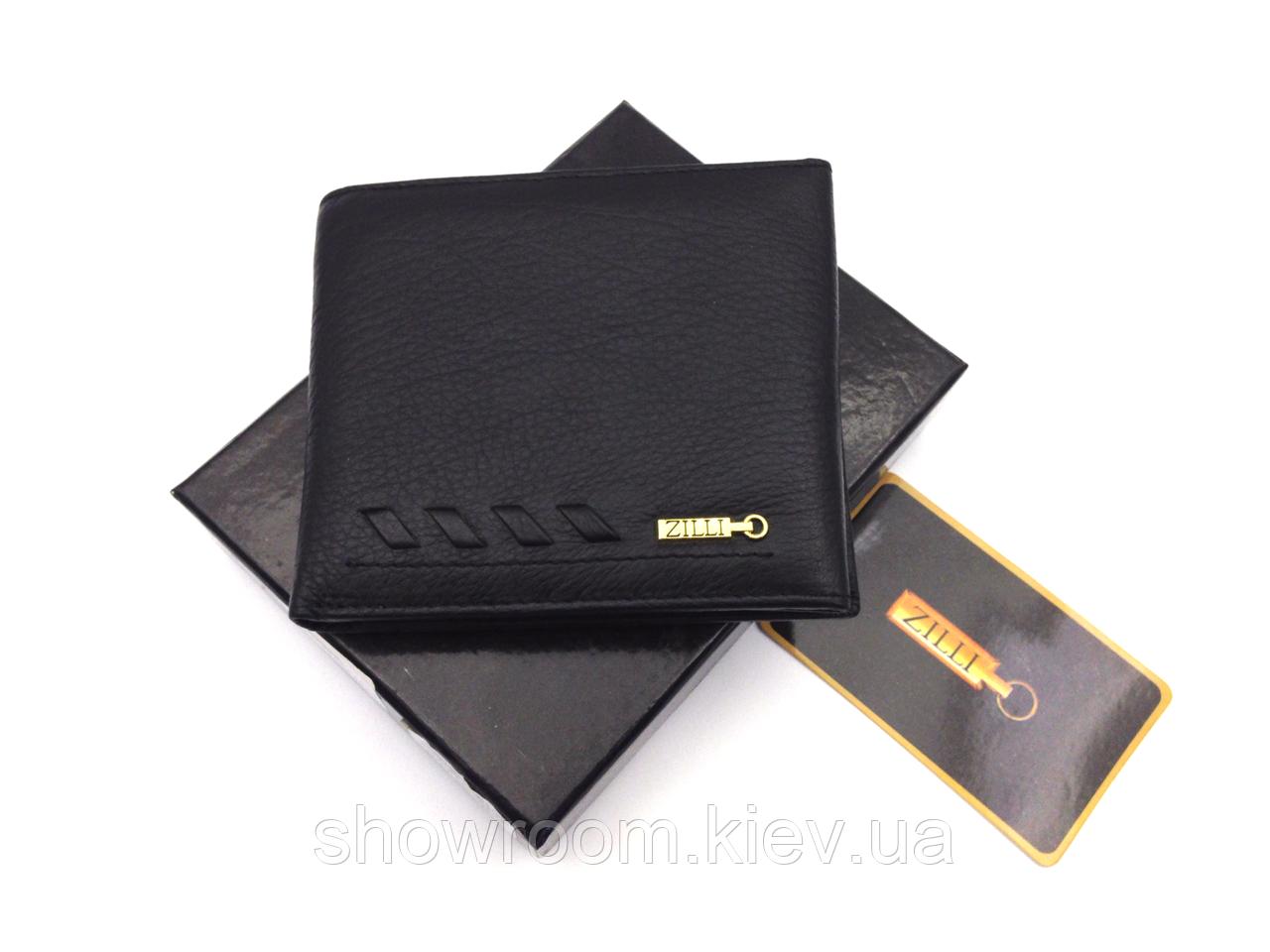 Мужское портмоне в стиле Zilli (305-043) leather black