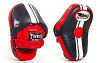Лапа изогнутая (1шт) кожа TWINS  (крепление на липучке, р-р 27x20x10см) Черно-красный