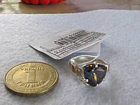 Кольцо из серебра с золотом и мистик ТОПАЗОМ