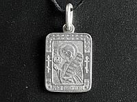 Нательная икона Роман Святой преподобный Роман Сладкопевец Металл с серебряным покрытием 3х2х0,2 см (05086)