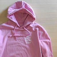 Anti Social Social Club Pink • Розовая женская худи • Толстовка с биркой ASSC