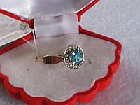 Кольцо из серебра с золотом иТОПАЗОМ
