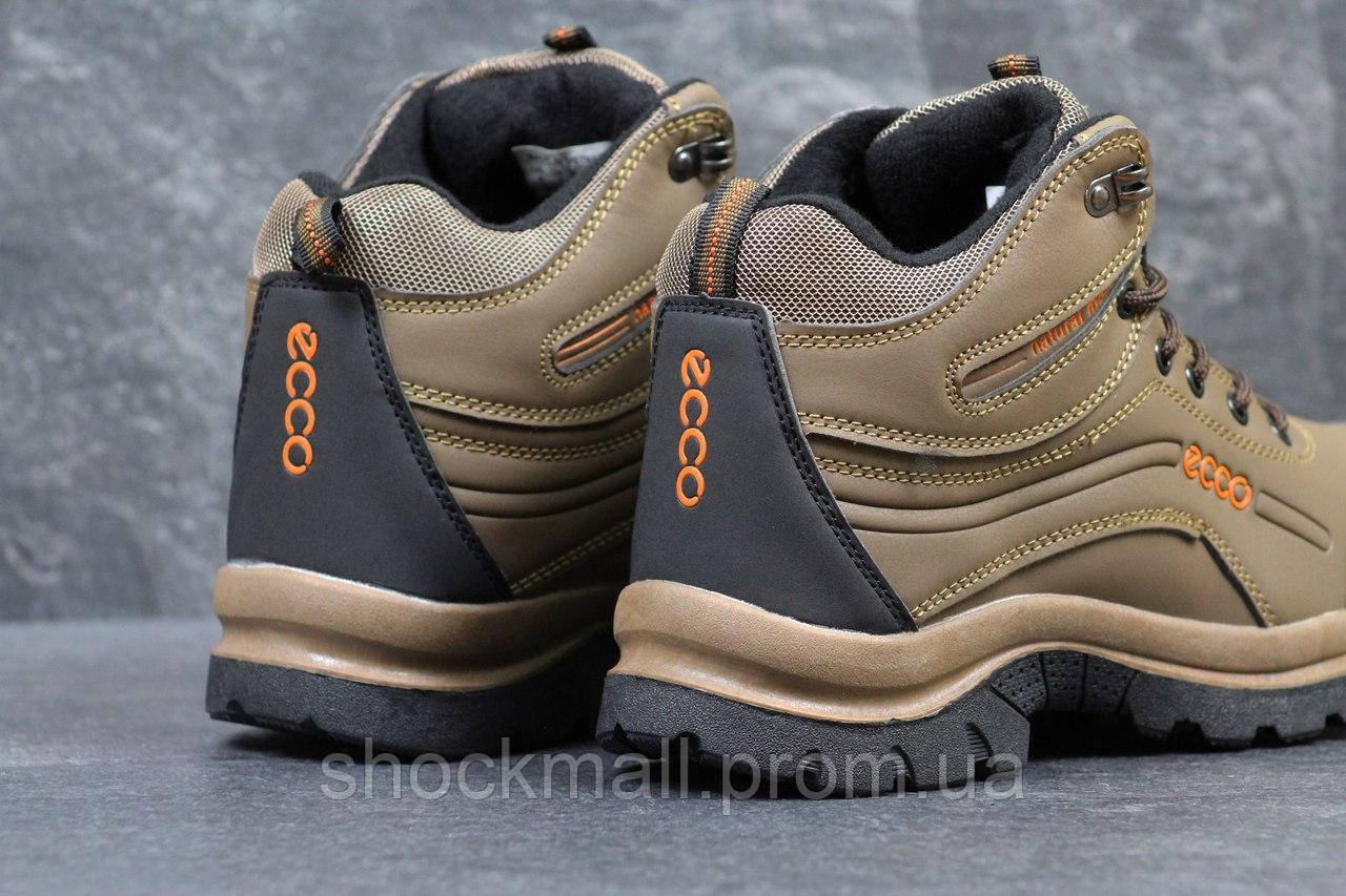 Мужские ботинки Ecco зимние коричневые Вьетнам реплика ec5e13d7a7c8d