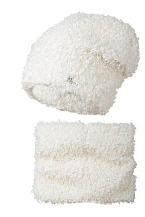 Теплый и комфортный набор Букле, шапка и шарф - хомут, фото 2