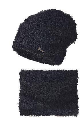Теплый и комфортный набор Букле, шапка и шарф - хомут, фото 3