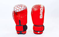 Перчатки боксерские кожаные на липучке BAD BOY  , фото 1