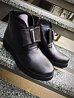Удобные и практичные ботинки кожанные на байке