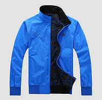 Двухсторонняя мужская куртка ветровка Адидас.