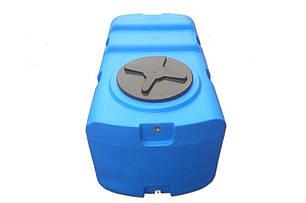 Бак, бочка, емкость 400 литров пищевая прямоугольная, крышка d 35 см SК, фото 2