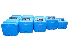 Бак, бочка, емкость 400 литров пищевая прямоугольная, крышка d 35 см SК, фото 3