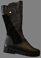 Женские кожаные сапоги на толстой подошве от производителя Л - 27С