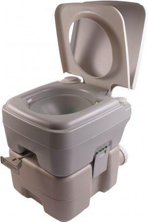 Биотуалет, туалет на кемпинг портативный 20л с сильфонной помпой PT20 PortaFlush