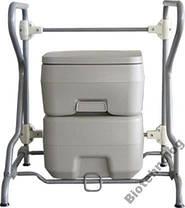 Биотуалет, туалет на кемпинг портативный 20л с сильфонной помпой PT20 PortaFlush, фото 2