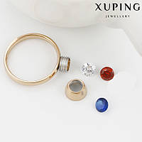 Кольцо 13782 размер 19, сменный камень,  позолота 18К, фото 1