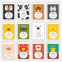 Перекидной календарь `Детские картинки`, формат А4