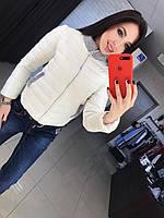 Женская стильная короткая куртка, в расцветках белый, ХХЛ-46