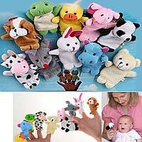 Пальчиковий дитячий ляльковий театр Звірятка, 10 іграшок / Пальчиковый кукольный театр Зверюшки (10 игрушек)