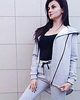 Спортивный костюм 3-х нитка серый