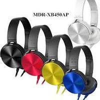 Наушники MDR XB 450, оголовье, с микрофоном, проводные, mini jack