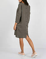Платье из 100% льна серого цвета, фото 1