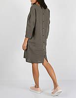 Платье из 100% льна серого цвета