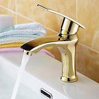 Античный По центруКерамический клапан Одно отверстие for  Матовый , Смеситель для ванны Ванная раковина кран Биде кран кухонный смеситель 01253941