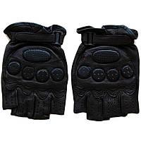 Перчатки мужские  без пальцев  байкерские (LB70581145), черные