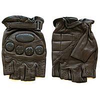 Перчатки мужские  байкерские без пальцев (LB70581146), коричневые