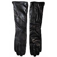 Длинные кожаные женские перчатки Moda (LB70581010), черные