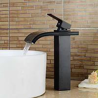 Современный водопад Центровой с керамическим клапаном одной ручкой одно отверстие для хрома, ванной раковина смеситель 05355555
