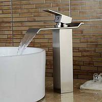 Водопад современное судно с керамическим клапаном одной ручкой одно отверстие для хрома, ванной раковина смеситель 05349531