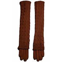 Перчатки женские шерстяные длинные Moda (LB70581197), рыжие