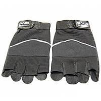Спортивные мужские перчатки без пальцев Sports (LB70581105), черные