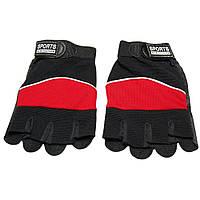 Спортивные мужские перчатки без пальцев Sports (LB70581107), красные