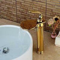 Современный По центру Водопад with  Керамический клапан Одной ручкой одно отверстие for  Титан с влогоотталкивающим покрытием , Ванная 05497348