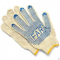 Рабочие перчатки х/б белая с ПВХ покрытием FAR