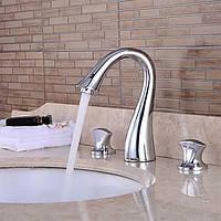 Водопад с керамическим клапаном двумя ручками три отверстия для хрома, ванной раковина смеситель 05387498