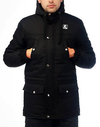 Парка Ястреб мужская (Зимняя) «Windproff» -черная, фото 2