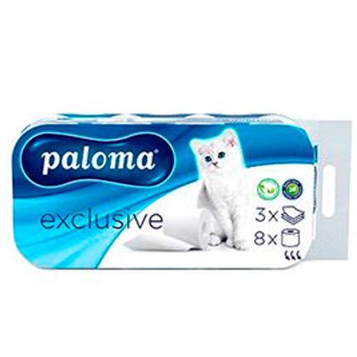 Paloma Exclusive Туалетная бумага 8 рулонов