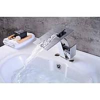 Современный водопад Центровой с керамическим клапаном одной ручкой одно отверстие для хрома, ванной раковина смеситель 05636887