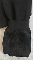Тёплые подростковые лосины на меху для девочек 164,170,176 Классика в черном